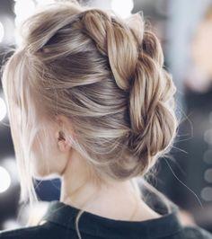 gorgeous braid with updo wedding hairstyle inspiration #weddinghair #hairdo #updohair #messyhairupdo #updoweddinghair #hairstyles #chignon #lowupdo #hairstyleideas #braids #braidupdo #bridalhair
