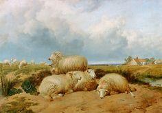 Thomas Sidney Cooper (British artist, 1803-1902) Sheep in a Summer Landscape