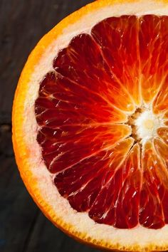 Blood orange, also called red orange, is a citrus fruit, owned by oranges family, but it is red in color. Health benefits of blood oranges may include L'art Du Fruit, Fruit Art, Fruit And Veg, Fruits And Vegetables, Fruit Salad, Fruit Photography, Close Up Photography, Macro Photography, Colour Photography