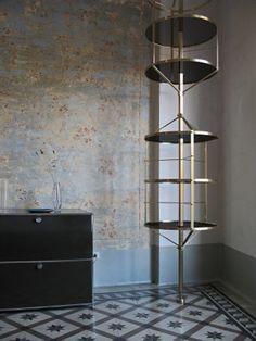 voliera metal shelf by italian furniture designer pietro russo | yellowtrace