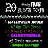 20 amazing free Halloween fonts. I love that this collection includes both creepy and cute options!