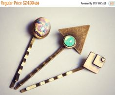 Hey, I found this really awesome Etsy listing at https://www.etsy.com/listing/208300229/halloween-sale-geometric-opal-bobby-pin