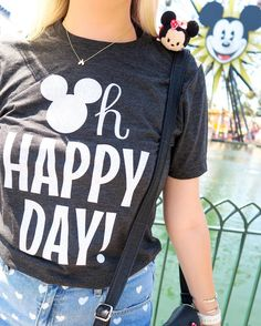 🐭OH HAPPY DAY! Any day I get to see Mickey's Fun Wheel is happy one!🎡❤️ Fun Fact: Last December, Drew and I got engaged right where I am… Disneyland Trip, Disney Vacations, Disneyland Ideas, Disney Travel, Disney Shirts, Disney Outfits, Disney Clothes, Disney California, Cute Disney