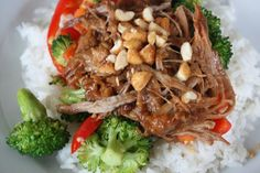 Asian Peanut Butter Pork - Crockpot style - this is on the menu for the week.