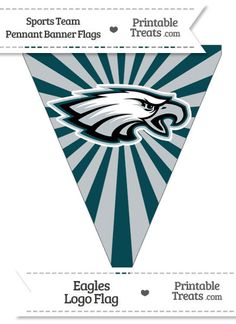 Philadelphia Eagles Pennant Banner Flag from PrintableTreats.com