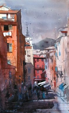 Eugen Chisnicean - Nice, France II- Watercolor - Painting entry - December 2010 | BoldBrush Painting Competition
