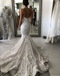 Vintage Lace Wedding Dresses Sweetheart Neck Mermaid Wedding Dress AWD – SheerGirl Mermaid Sexy Deep V-back Wedding Dress.The professional tailors from wedding dress Top Wedding Dresses, Sweetheart Wedding Dress, Wedding Dress Trends, Lace Mermaid Wedding Dress, Perfect Wedding Dress, Mermaid Dresses, Bridal Dresses, Mermaid Sweetheart, Evening Dresses For Weddings
