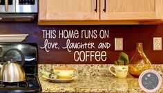 Wall Decals for the Home  Kitchen Wall by FourPeasinaPodVinyl, $16.15