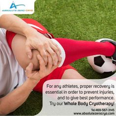 Recover properly to perform at your best with Whole Body Cryotherapy!