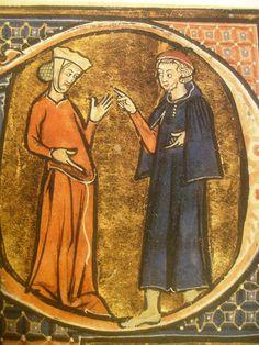 1285ca., gentildonna incinta e medico, Aldobrandino da Siena