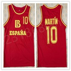 eb672ff8c Discount Fermando Martin Spanish National Team Basketball Jersey Embroidery  Stitched Custom Any Number And Name Jerseys From China