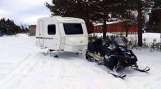 Had to Pin It! May need this heading to #LancasterPA today... Snow trailer and skidoo.
