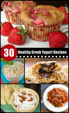 I love the Strawberry Yogurt Muffin one.  30 Healthy Recipes using Greek Yogurt | alidaskitchen.com #AetnaMyHealthy #spon