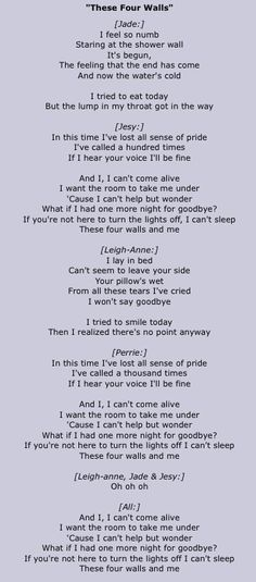These Four Walls by Little Mix