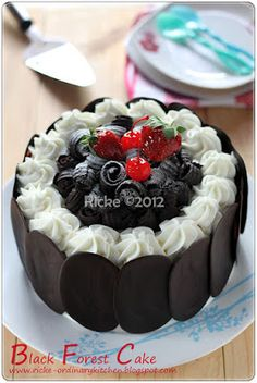 Just My Ordinary Kitchen...: BLACK FOREST CAKE FOR OUR LITTLE FAMILY ^___^