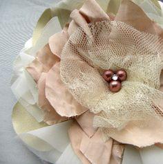 Cosette Luxurious Handmade Hair Flower or Brooch by Silver pencils, $48.00