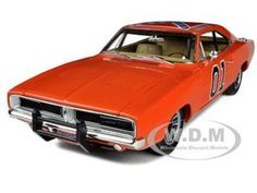 diecastmodelswholesale - 1969 Dodge Charger Dukes Of Hazzard General Lee 1/18 Diecast Car Model by Autoworld, $72.99 (http://www.diecastmodelswholesale.com/1969-dodge-charger-dukes-of-hazzard-general-lee-1-18-diecast-car-model-by-autoworld/)
