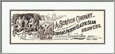 """""""Mens+Underwear+Scrivens+Drawers++Advertiseme""""+by+Phil+Cardamone,+USA+//+Restored+reproduction+of+advertisement+for+Scriven's+Patent+Elastic+Seam+Drawers.+Date:+1899.I+have+selected+interesting,+old+19th+and+early+20th+century+graphic+images+for+digital+restoration+and+editing.+The+images+were+then+adjusted+and+brightened+to+make+the+images+suita...+//+Imagekind.com+--+Buy+stunning+fine+art+prints,+framed+prints+and+canvas+prints+directly+from+independent+working+artists+and+photographers."""
