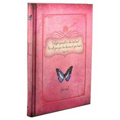 Psalm 37:4 Butterfly Hardcover Journal