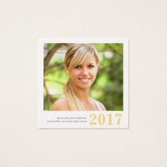 #modern - #Graduation Name Cards Easy-Edit Photo Square