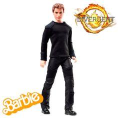 Muñeca Barbie Divergent. Four Eaton, Mattel Muñeca Barbie inspirada en el personaje de Four Eaton (Cuatro), protagonista masculino de la película Divergent.