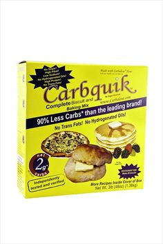 http://carbessentials.net/products/carbquick Carbquik Baking Mix is a baking mix for everyone counting carbs. It's made from wheat so it tastes like flour, try it and you'll see that it tastes as good or better than the leading brand, with 90% less carbs! Carbquik will work in almost any recipe calling for traditional bake mix.