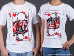 """""""Ever since you caught my one and only heart, with every kiss, with every night, I never want us to apart because we are meant to be each other like king and queen! I fit best with you because You Are My Other Half!"""" Perfect Valentine's Day gifts for boyfriend or husband. BoldLoft""""You're My Other Half"""" Couple Shirts. #boldloft #CoupleShirts"""
