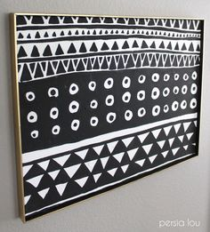 DIY Black and White Geometric Art by Persia Lou