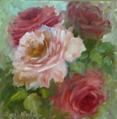Still Life Floral Rose Painting and Original by Cheri Wollenberg via Etsy.
