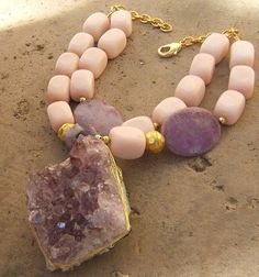 Coral Pink Chunky Jewelry | Jewelry & Watches > Handcrafted, Artisan Jewelry > Necklaces ...