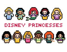 Disney Princesses Cross Stitch Pattern PDF by XStitchMyHeart