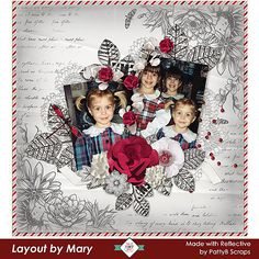 """The heart is the best reflective thinker."" Wendell Phillips  #Reflective by PattyB Scraps has lovely rich red colors that pervade the color palette, along with highly contrastive lights.  A great kit to scrap your memories. #CTHS Layouts Artists created amazing pages inspired by memories of their parents, their children, first days of school,  pets and gardens. SAVE 30% off until 09-20.  #PattyBScraps, , #digitalscrapbooking,"