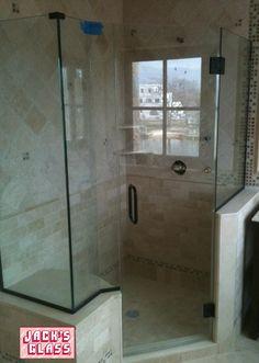 knee wall Neo Angle Custom Shower Enclosure shower door jacks glass & fully framed shower door - door \u0026 panel #jacksglass   Shower Doors ...