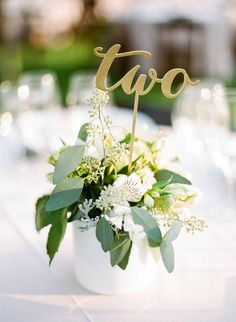 Photo: Rebecca Yale Portraits - wedding centerpiece idea