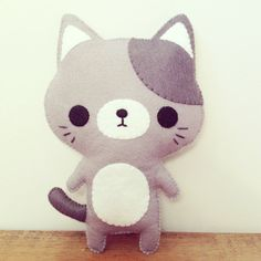 kawaii cat plushie, it's from etsy so I doubt it's a tutorial