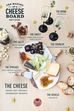 Entertain like a star with this red carpet worthy cheese board from Roth Cheese.