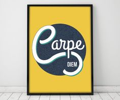 Hey, I found this really awesome Etsy listing at https://www.etsy.com/listing/219460523/carpe-diem-typographic-poster