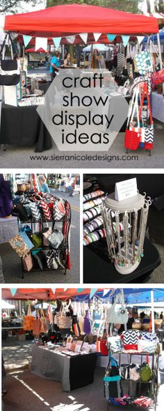 Craft show booth display ideas for bags, jewelry and paper products. #jewelry #display #craftshow