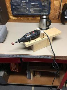 Dremel stand – Dremel stand - Home & DIY Dremel Werkzeugprojekte, Dremel Bits, Dremel Wood Carving, Dremel Tool Projects, Wood Projects, Woodworking Patterns, Woodworking Projects, Dremel Tool Accessories, Homemade Tools