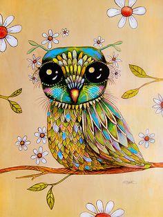the peridot owl by Karin Taylor