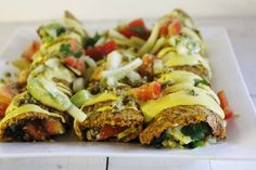 Raw Vegan Enchiladas with Chunky Salsa, Cheesy Sauce, and Spicy Nut Meat   One Green Planet