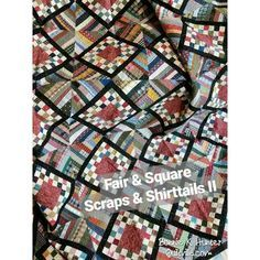 Fair & Square quilt! Today's #quiltvilleoftheday combines two of my favorite patchwork techniques - string blocks from recycled fabric, and four-patches made as Leaders & Enders in between the lines of chain stitching other things! ❤ . . . . #quilt #quilting #patchwork #quiltville #bonniekhunter #scrapquilt #stringquilt #stringblocks #recycle #upcycle #scrapsabdshirttailsii #quiltersofinstagram #quiltsofinstagram #fairandsquarequilt