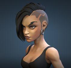 3d Model Character, Character Design Animation, Female Character Design, Character Modeling, Character Design Inspiration, Character Art, 3d Modellierung, Art Studio Design, Black Cartoon