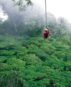 ziplining above the cloud forest in monteverde, costa rica...one of the craziest things I've ever done, but so worth it!  it was beautiful!