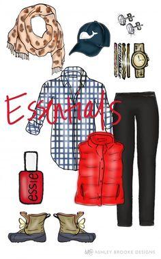 ABD: Styled Goes to Blue Ridge, GA Essentials // Fashion Illustration // Custom Design