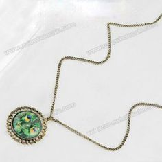 Wholesale Chic Style Magic Print Alloy Mirror Shape Pendant Necklace For Women (AS THE PICTURE), Necklaces - Rosewholesale.com