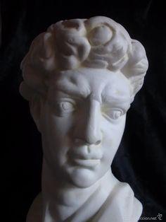 Arte: CABEZA DEL DAVID DE MIGUEL ANGEL ESCULTURA ALTURA 31 CM APROXIMÁDAMENTE - Foto 2 - 60360123 Miguel Angel, Statue, Sculpture, Art, Pictures