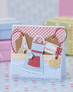Make this cute apron card using our free printables!