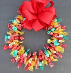 Sugar Free Candy Wreath Fruit Flavors by CandyWreathsbyCarla