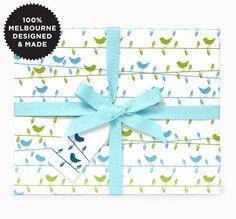 HIGHWIRE BIRDIES ICEMINT- wrapping paper